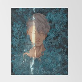 Surrounded by Flowers Throw Blanket