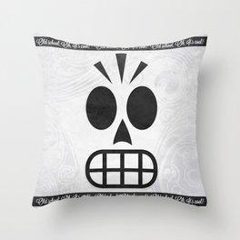 GRIM FANDANGO - OLD SCHOOL, OH, IT'S COOL! Throw Pillow