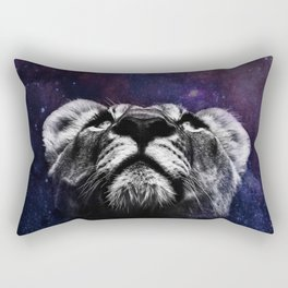 Galaxy Lion Rectangular Pillow