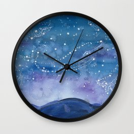The Blue Wall Clock