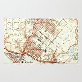 Vintage Map of Newport Beach California (1951) Rug