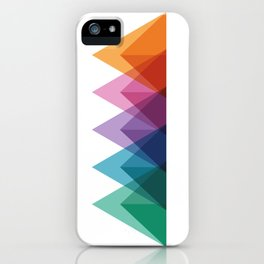 Fig. 009 Colorful Triangle Mountain Chain iPhone Case