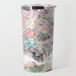 Montreal map - Landscape orientation Travel Mug