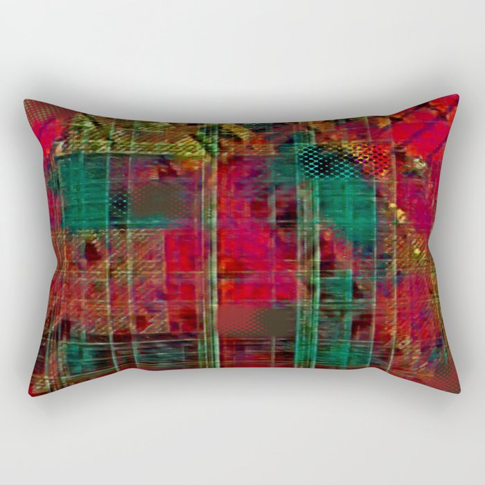 Andes Pop Plaid Rectangular Pillow