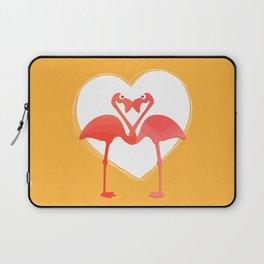 lovebirds - flamingos in love Laptop Sleeve
