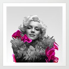 Quartz Armor & Roses in Her Hair Art Print