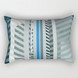Dynamic Blue Lines Rectangular Pillow