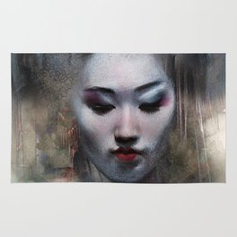 The ikebana woman Rug
