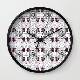 Roses Black Widow Wall Clock