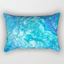 Aqua Ocean Blue Rectangular Pillow