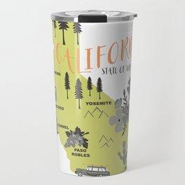 California Map Travel Mug