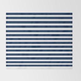 Navy-White ( Stripe Collection ) Throw Blanket