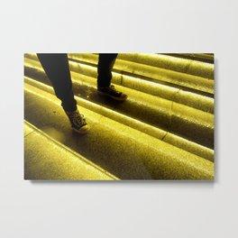 Strange House Kicks and Stairs Metal Print