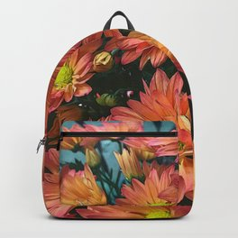 Cream and Pink watered Flowers Backpack