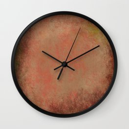 Colors of Red Gum Bark Wall Clock