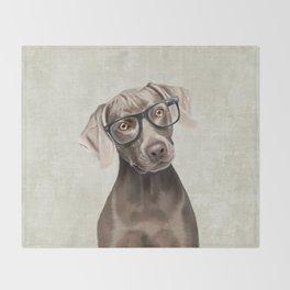 Mr Weimaraner Throw Blanket