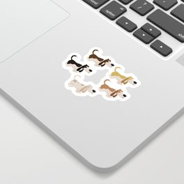 Basset Hound Colors Illustration Sticker