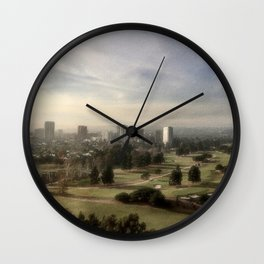 Rainy in L.A. Wall Clock