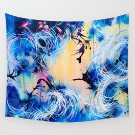 Falling Towards The Sky Wall Tapestry