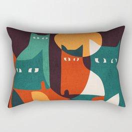 Cat Family Rectangular Pillow
