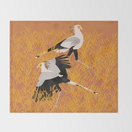 Secretary bird Throw Blanket