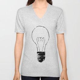 Lightbulb Sketch Unisex V-Neck
