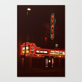 Night Lights State Street Theater, Ithaca NY Canvas Print