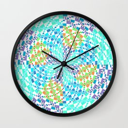 Vintage Whirlwind Spiral Quilt Patchwork Wall Clock