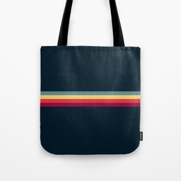 Retro Stripes Thunderbird Tote Bag