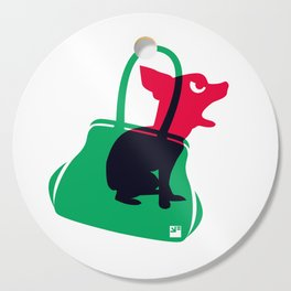 Angry animals: chihuahua - little green bag Cutting Board