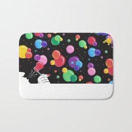 Bubbles colors the World !  Bath Mat