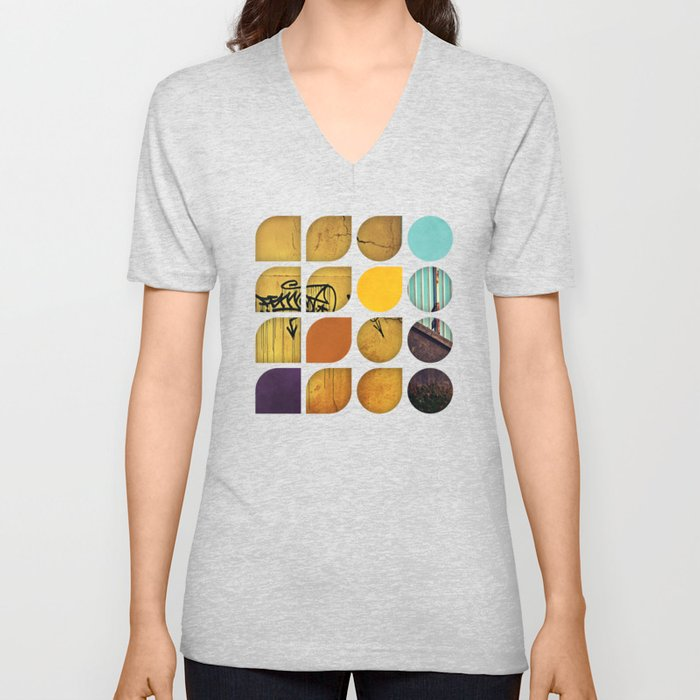 Cold Comfort Collage — Drippy Tag Unisex V-Neck