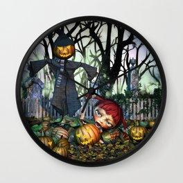 Zombie Pumpkin Chomper Wall Clock