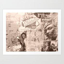 Painted Roots Reggae  Art Print