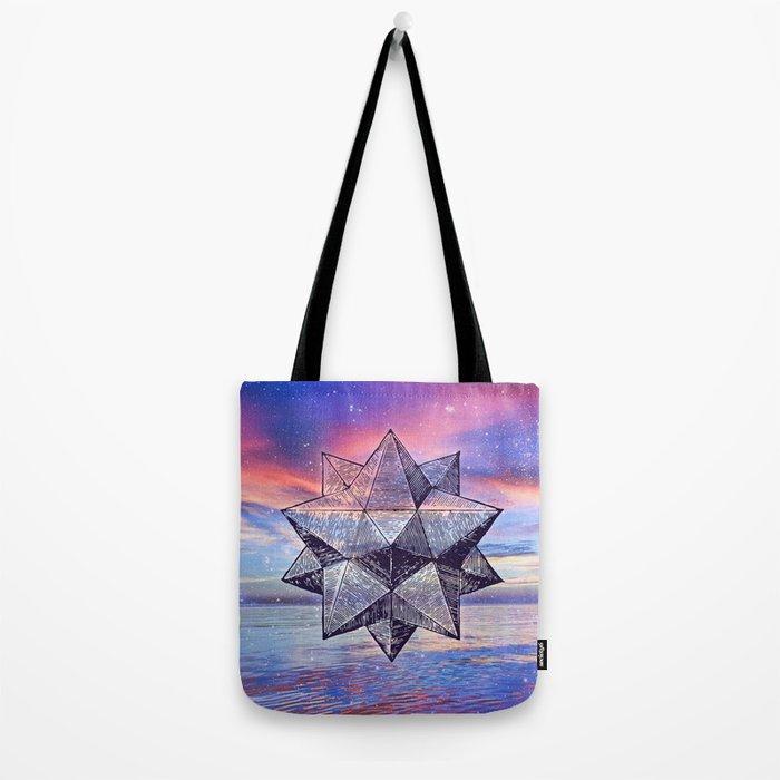 Sacred Geometry Universe 8 Tote Bag