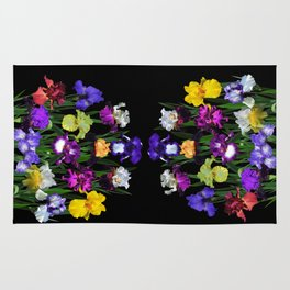 Iris garden Rug