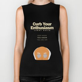Larry David comedy tv series poster, Enthusiasm, from Seinfeld creator, Woody Allen, Whatever works Biker Tank