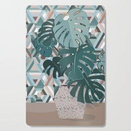 Monstera+mosaic Cutting Board
