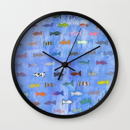 little fishes Wall Clock
