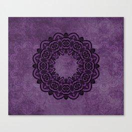Circle in Purple Canvas Print
