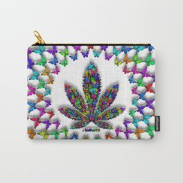 Butterflies Cannabis Leaf 2 Carry-All Pouch