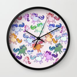 Retard Unicorns Wall Clock