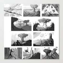 Matte painting thumbnails Canvas Print