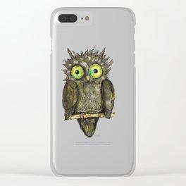 Black little owl Clear iPhone Case