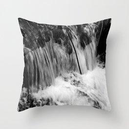 Black and White Falls Throw Pillow