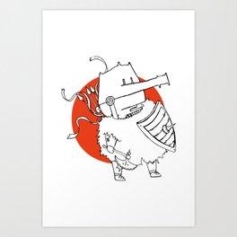 Hack It - Warrior Illustration Art Print