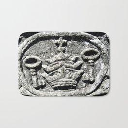 Ancient Church Carvings Bath Mat