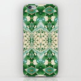 Boujee Boho Green Lace Geometric iPhone Skin