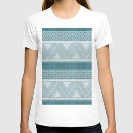 Dutch Wax Tribal Print in Teal T-shirt