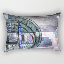 London Tube Station Rectangular Pillow